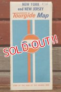 """dp-200801-14 Gulf / 1974 Tourguide Map """"New York and New Jersey"""""""