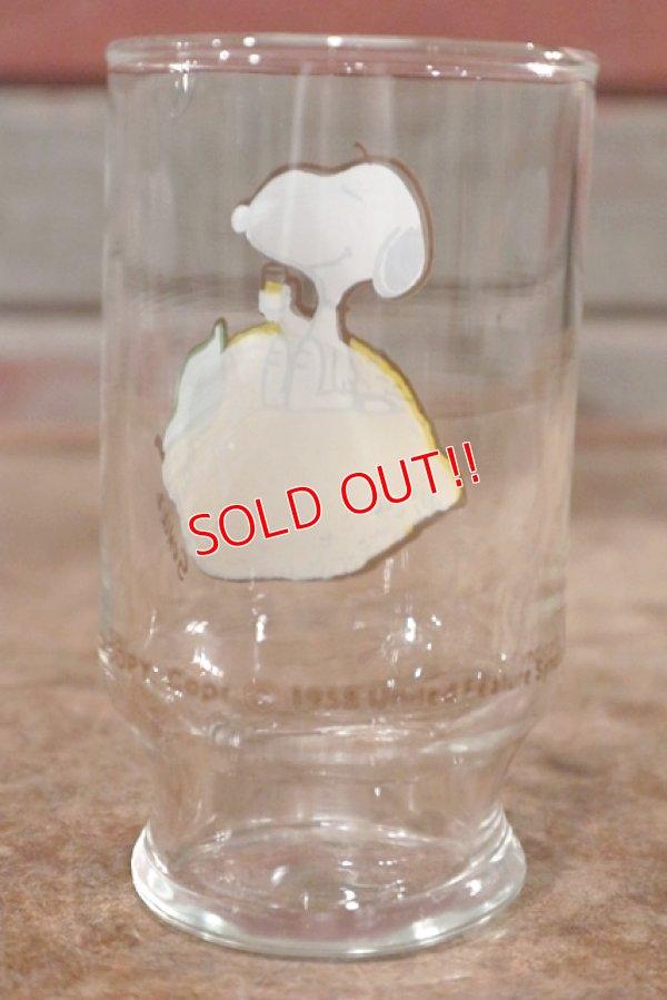 """画像3: gs-200901-02 Snoopy / Anchor Hocking 1970's mini Glass """"Lemon"""""""