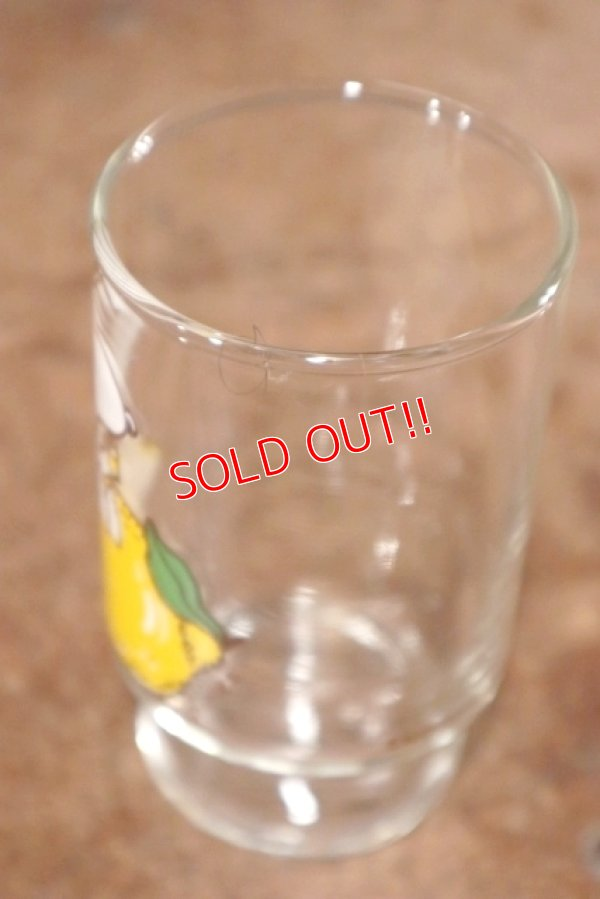 """画像4: gs-200901-02 Snoopy / Anchor Hocking 1970's mini Glass """"Lemon"""""""