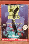 ct-200901-29 TEENAGE MUTANT NINJA TURTLES II / Topps 1991 Trading Card Box