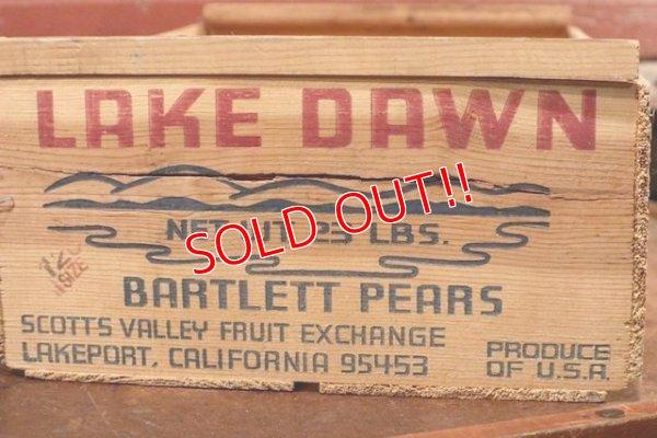 画像2: dp-200901-45 LAKE DAWN BARTLETT PEARS / Vintage Wood Box