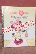 """ct-200901-71 Minnie Mouse / 1992 Little Golden Book """"Minnie n' me Where's Fifi?"""""""