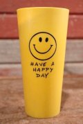 dp-201001-07 Have A Happy Day / 1970's Smile Plastic Tumbler