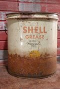 dp-201001-13 SHELL GREASE / 1950's 5 U.S.Gallons Oil Can