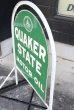 画像7: dp-200901-55 QUAKER STATE / 1970's Stand Sign (7)