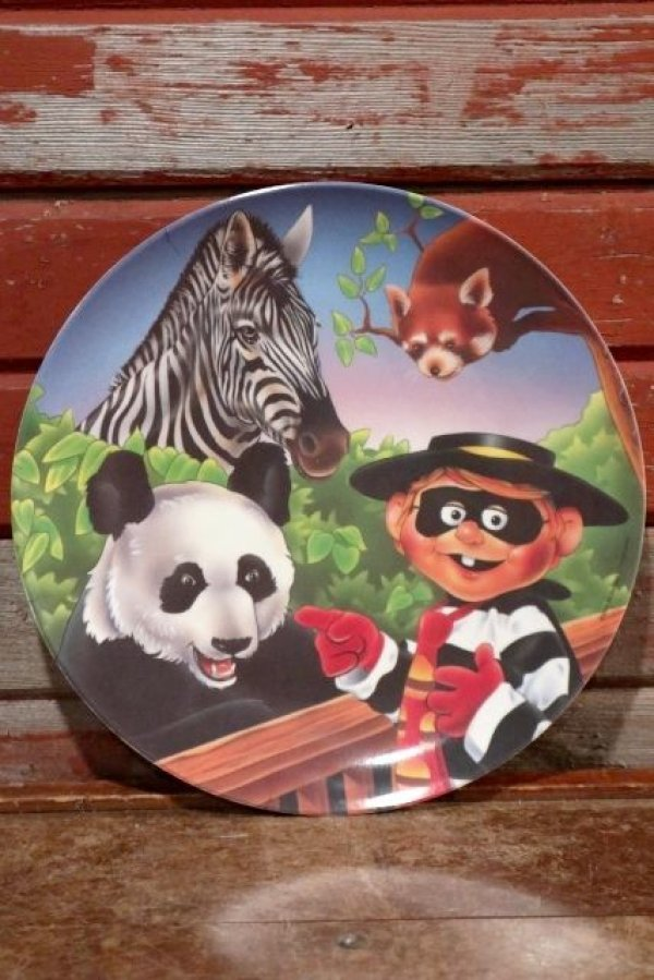 "画像1: ct-201001-09 McDonald's / 1996 Collectors Plate ""Hamburglar in Zoo"""