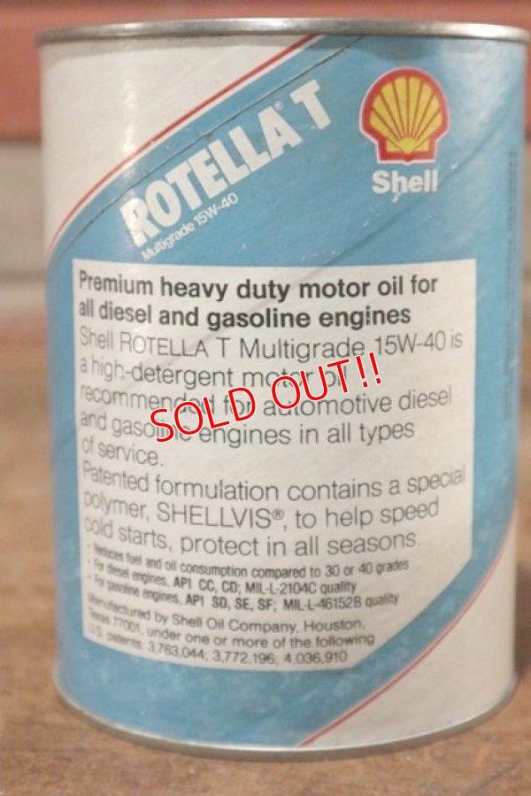 画像3: dp-201001-31 Shell ROTELLA T / One Quart Motor Oil Can