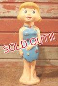 ct-201001-40 Wilma Flintstone / Knickerbocker 1960's Rubber Doll