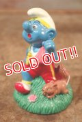 """ct-201101-01 Smurfs / 1998 Candy Topper """"Jogging"""""""