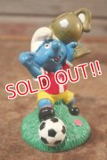 """ct-201101-04 Smurfs / 1998 Candy Topper """"Football"""""""