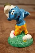 "ct-201101-03 Smurfs / 1998 Candy Topper ""Golf"""