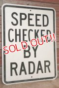 "dp-201101-71 Road sign ""SPEED CHECKED BY RADER"""