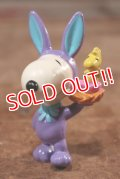 "ct-201114-86 Snoopy / Whitman's 1997 PVC Figure ""Easter Bunny (Purple)"""