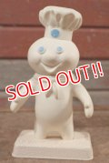 ct-201114-34 Pillsbury / Poppin' Fresh 1970's Soft Vinyl Doll w/ Stand