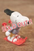 "ct-201114-85 Snoopy / Schleich 1980's PVC Figure ""Ski"""