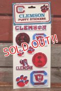 ct-201114-27 CLEMSON UNIVERSITY / 1984 Puffy Stickers