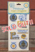 ct-201114-27 UNIVERSITY OF PITTSBURGH / 1984 Puffy Stickers