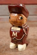 ct-210101-03 Anri 1950's College Mascot Figure / The University of Massachusetts