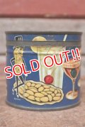 ct-210101-27 PLANTERS / MR.PEANUT 1940's Cocktail Salted Peanuts Tin Can