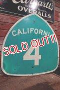 """dp-210101-09 Road Sign """"CALIFORNIA 4"""""""