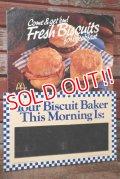 dp-201201-66 McDonald's / 1984 Fresh Biscuits for Break Fast Cardboard Sign