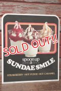 dp-201201-60 McDonald's / 1978 SUNDAE SMILE Plastic Sheet