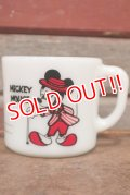 ct-210101-80 Mickey Mouse & Minnie Mouse / Anchor Hocking 1980's Mug (A)