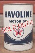 dp-201201-40 TEXACO / HAVOLINE Motor Oil One U.S. Quart Can