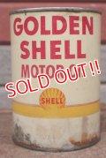 dp-201201-40 SHELL / GOLDEN SHELL Motor Oil One U.S. Quart Can