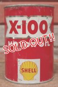dp-201201-40 SHELL / X-100 Motor Oil One U.S. Quart Can