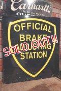 dp-210101-03 OFFICIAL BRAKE ADJUSTING STATION / Metal Sign