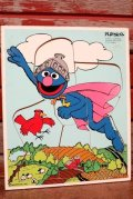 ct-210101-05 Super Grover / Playskool 1970's Wood Frame Tray Puzzle