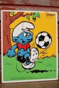 ct-210101-04 Smurf / Playskool 1980's Wood Frame Tray Puzzle
