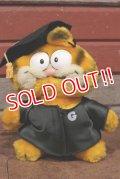 "ct-210101-32 Garfield / DAKIN 1980's Plush Doll ""Grad"""