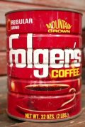 dp-210101-59 Folger's COFFEE / Vintage Tin Can