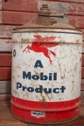 dp-201201-48 Mobil / 1950's-1960's 5 U.S.GALLONS Oil Can