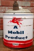 dp-201201-47 Mobil / 1950's-1960's 5 U.S.GALLONS Oil Can