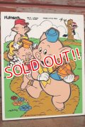 ct-210101-09 Three Little Pigs / Playskool 1970's Wood Frame Tray Puzzle