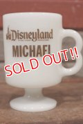 "dp-210101-82 Disneyland / Federal 1970's Footed Mug ""MICHAEL"""