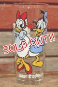 gs-210201-05 Donald Duck & Daisy Duck / PEPSI 1978 Collector Series Glass