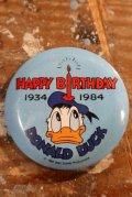 ct-201114-126 Donald Duck / HAPPY BIRTHDAY 1934-1984 Pinback