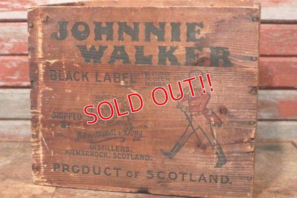 画像2: dp-210201-35 JOHNNIE WALKER / Vintage Wood Box