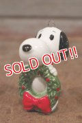 """ct-210301-15 Snoopy / Determined 1975 Ornament """"Wreath"""" (A)"""