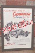 dp-200701-56 CHAMPION SPARK PLUGS / The Saturday Evening Post 1940's Advertisement