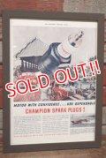dp-200701-56 CHAMPION SPARK PLUGS / The Saturday Evening Post 1940 Advertisement