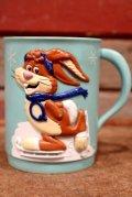 ct-170803-27 Nestlé / Quik Bunny 1980's Plastic Mug
