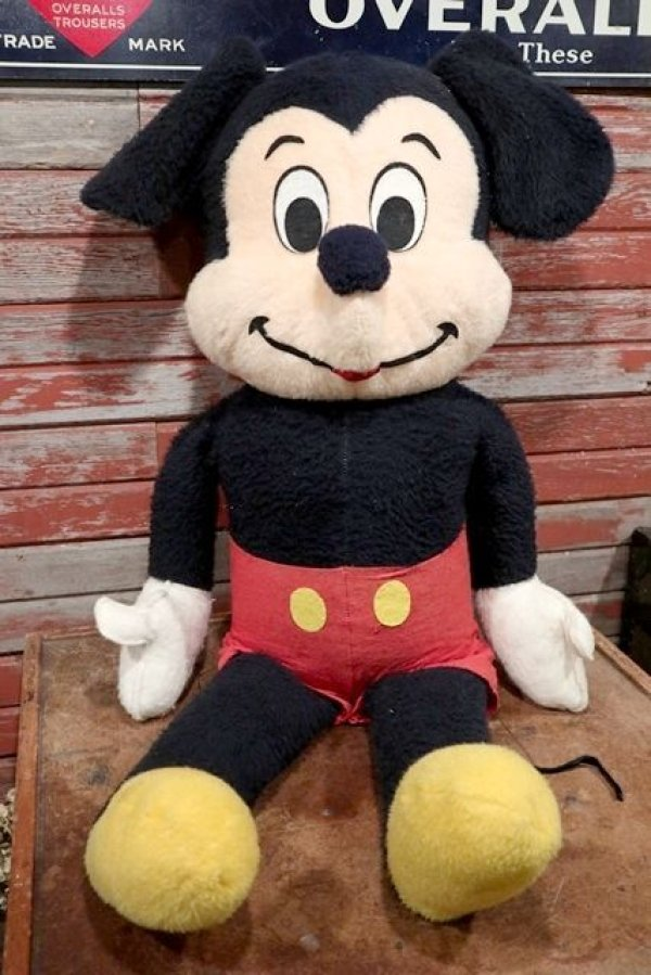画像1: ct-210301-89 Mickey Mouse / 1970's Big Plush Doll