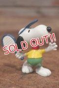 "ct-201114-85 Snoopy / Schleich 1980's PVC Figure ""Tennis"""