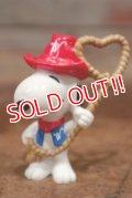 """ct-201114-86 Snoopy / Whitman's 1997 PVC Figure """"Cowboy"""""""