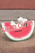 """ct-210301-26 Snoopy / Determined 1970's Coin Bank """"Watermelon"""""""